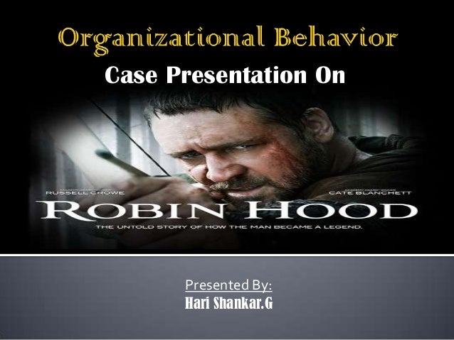 Case Study Analysis of Robin Hood