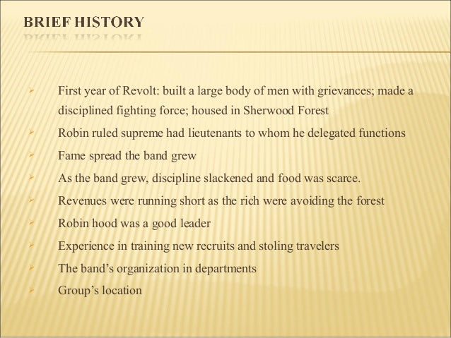 robin hood case study term papers