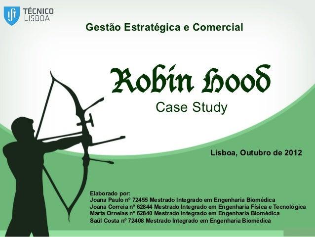 Strategic Management - Robin Hood Case Study
