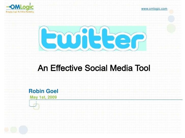www.omlogic.com     Robin Goel May 1st, 2009