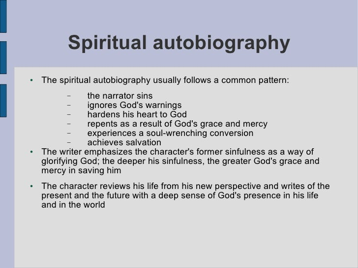 spiritual autobiography How has your relationship with ultimate reality changed over the course of your lifetime what spiritual lessons have you learned, that you would like to share with others.