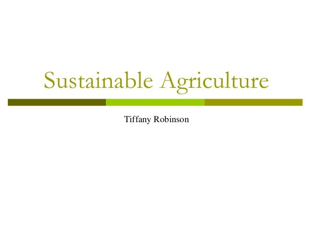 Robinson sustainable agriculture green