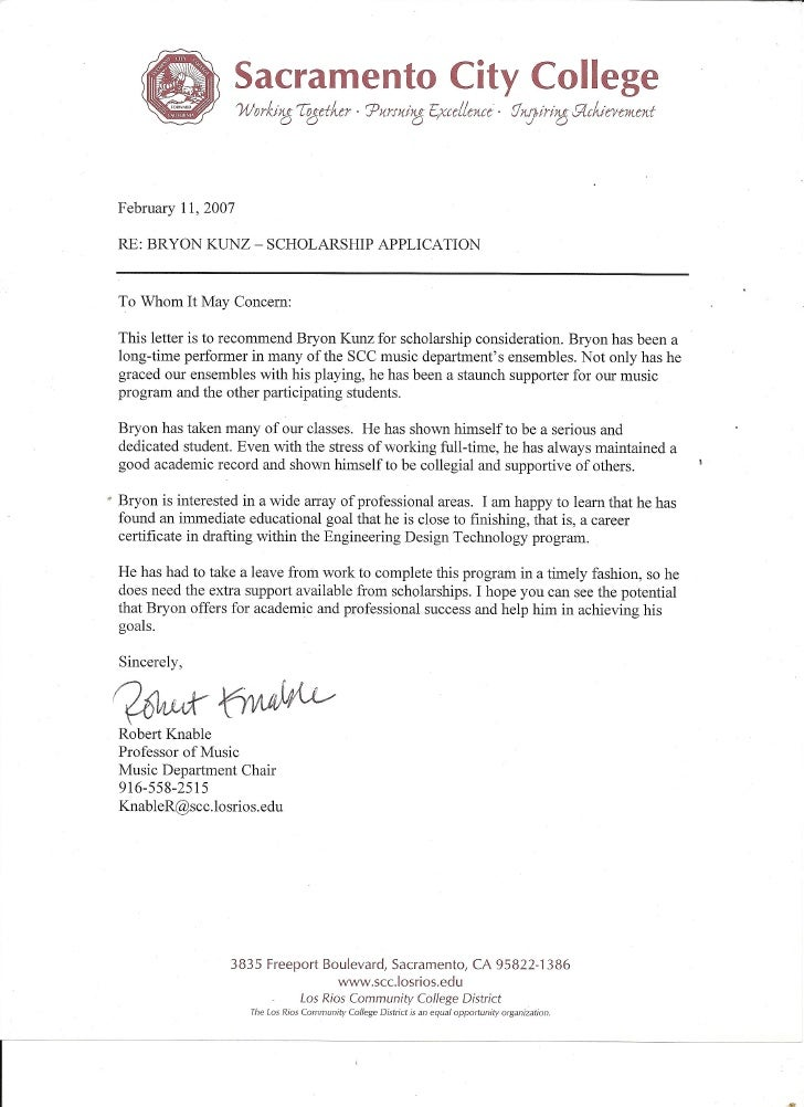 Reference Letter from Rob Knable