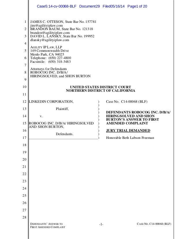 HiringSolved Response to LinkedIn Lawsuit