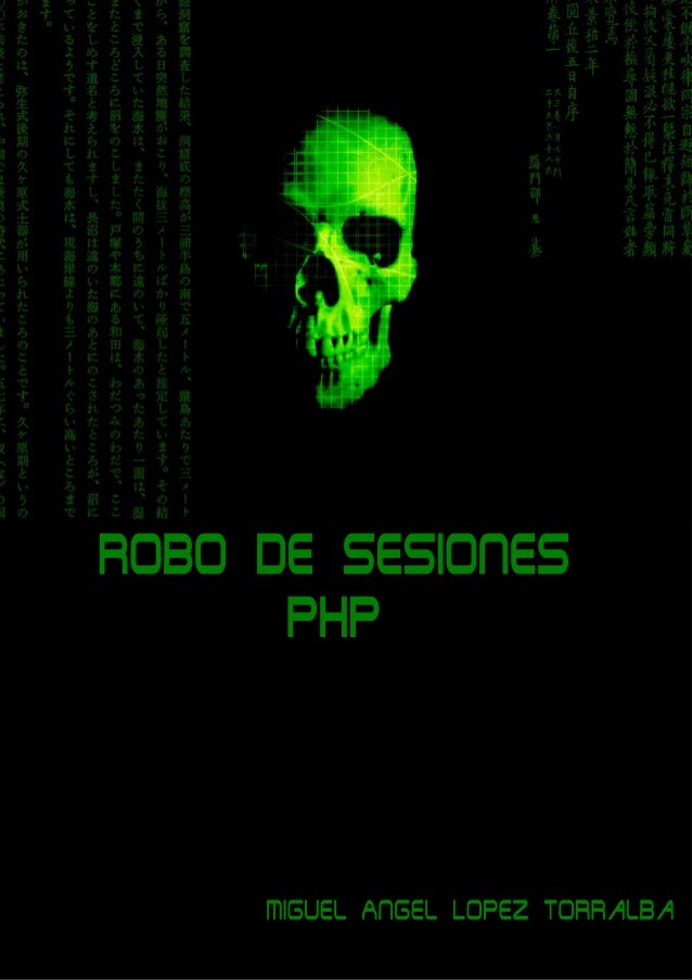 Robo de sesiones en PHP  Miguel Angel Lopez Torralba  INtroduccion Definicion Session Hijacking (secuestro o robo de sesió...
