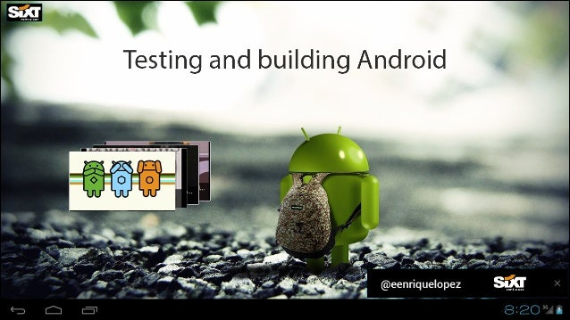 Agenda:  -Intro -Android Testing -Creating a project -JUnit Testing -Mock Objects + UI Testing -Integration and acceptance...