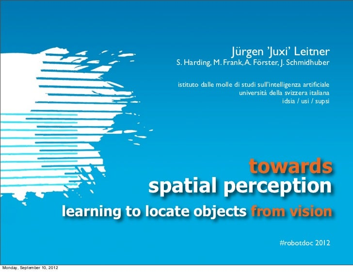 Towards Spatial Perception: Learning to Locate Objects from Vision #robotDoC