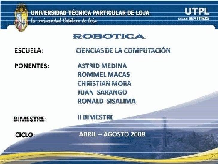 Robotica - IA