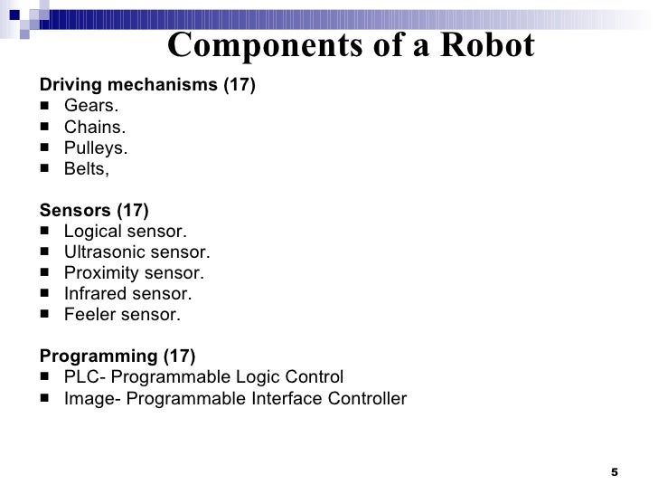 Drive Mechanisms For Robots Driving Mechanisms