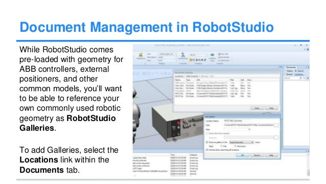 robotic lecture note Robotstudio downloads get the software, including robotstudio & robotstudio powerpacs, on 30 days free trial.