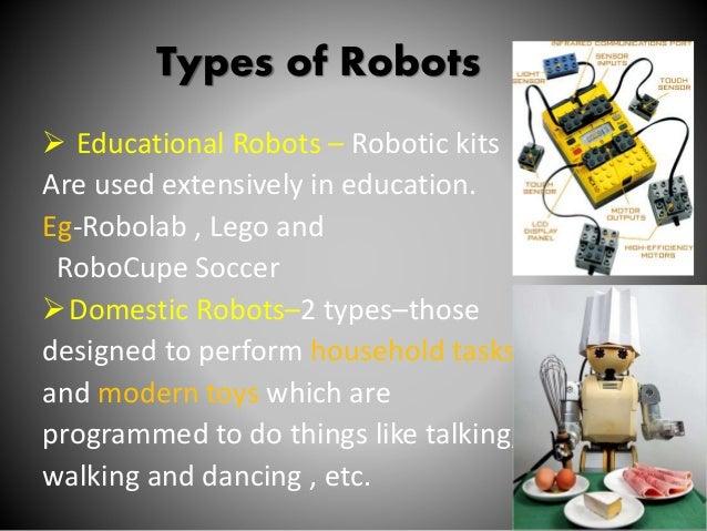 Robotics ppt for Types of motors used in robotics pdf