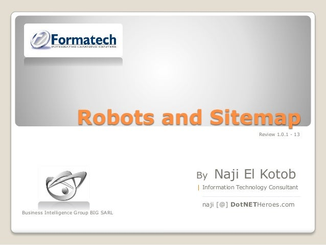 Robots and-sitemap - Version 1.0.1