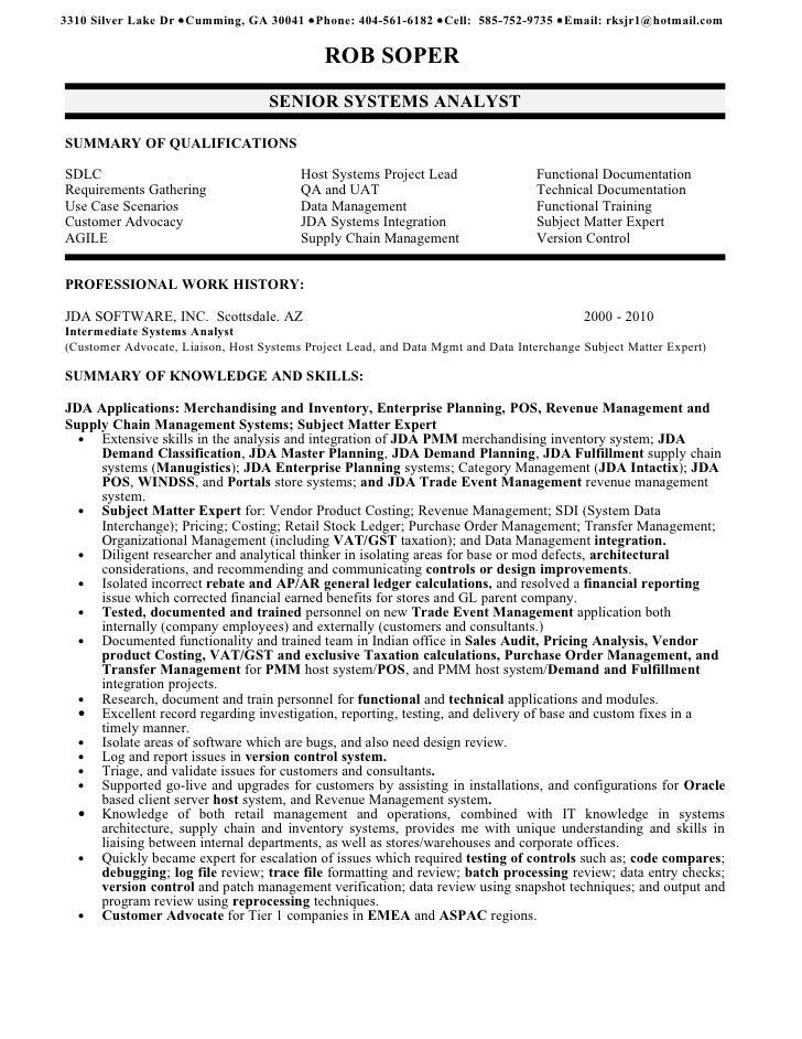 system analyst resume resume ideas resume
