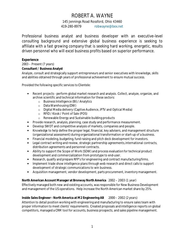 resume for procurement analyst