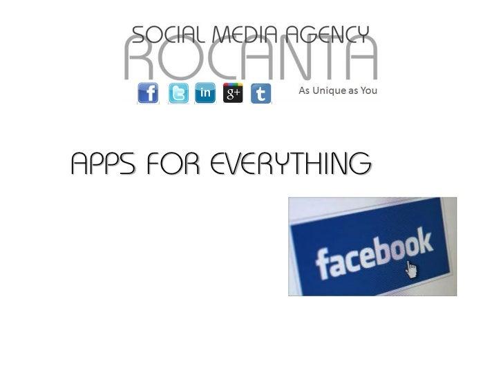 APPS FOR EVERYTHING                      © 2011 Vocus Social Media, LLC
