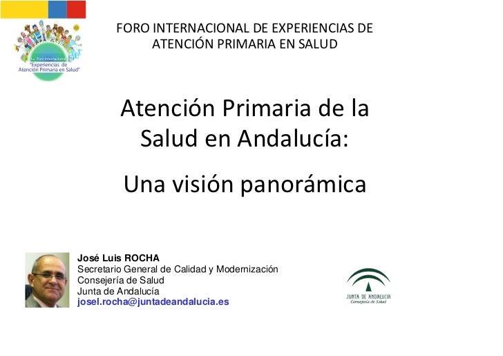 Atencion Primaria en Salud en Andalucia