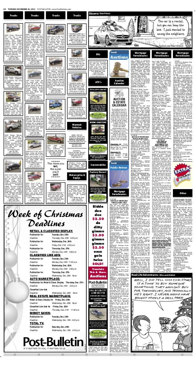 Public notices for Dec. 24, 2012