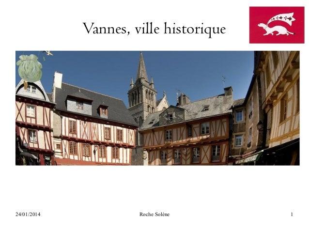 Vannes, ville historique  24/01/2014  Roche Solène  1