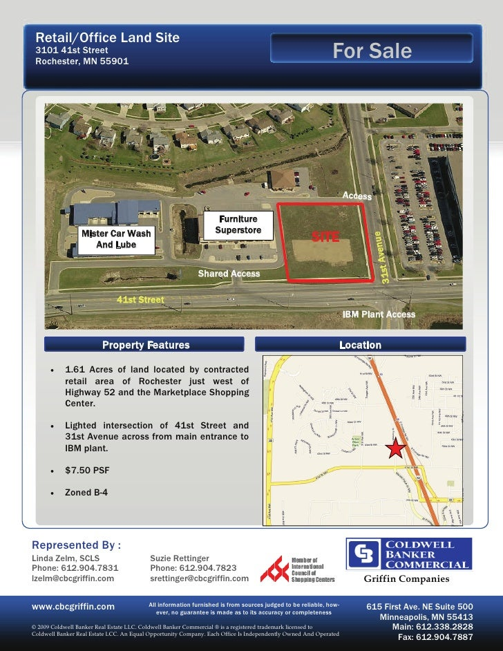 Retail/Office Land Site  3101 41st Street  Rochester, MN 55901                                                            ...
