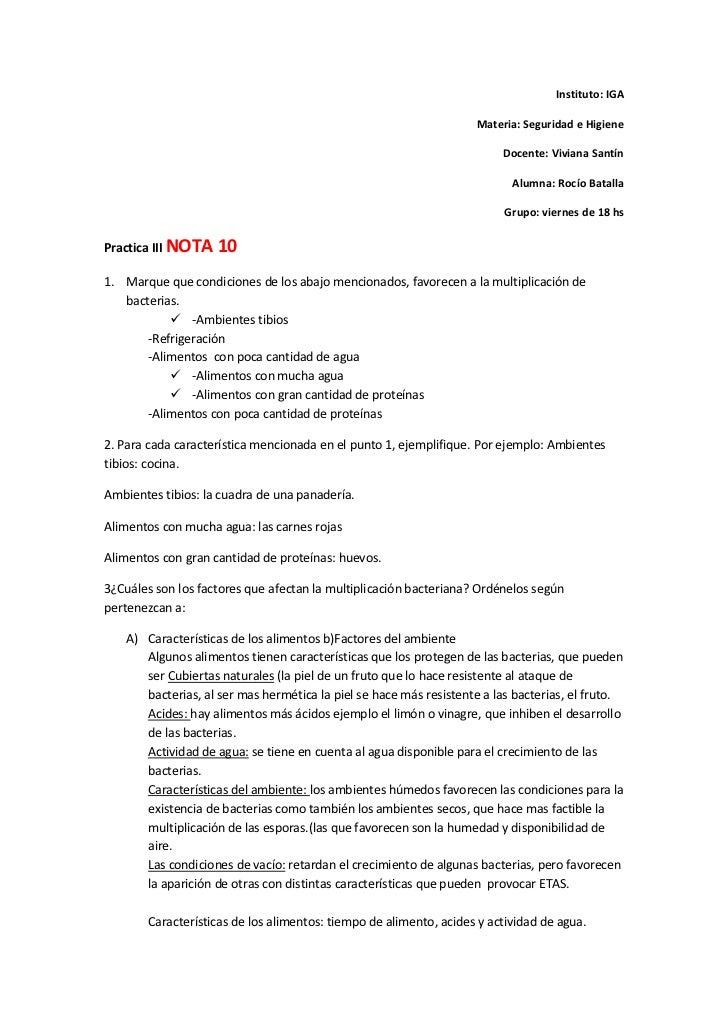 Instituto: IGA<br />Materia: Seguridad e Higiene<br />Docente: Viviana Santín<br />Alumna: Rocío Batalla <br />Grupo: vie...