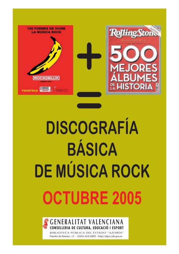 Discografía básica de música rock