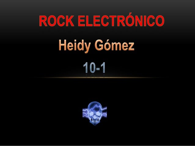 Rock electronico