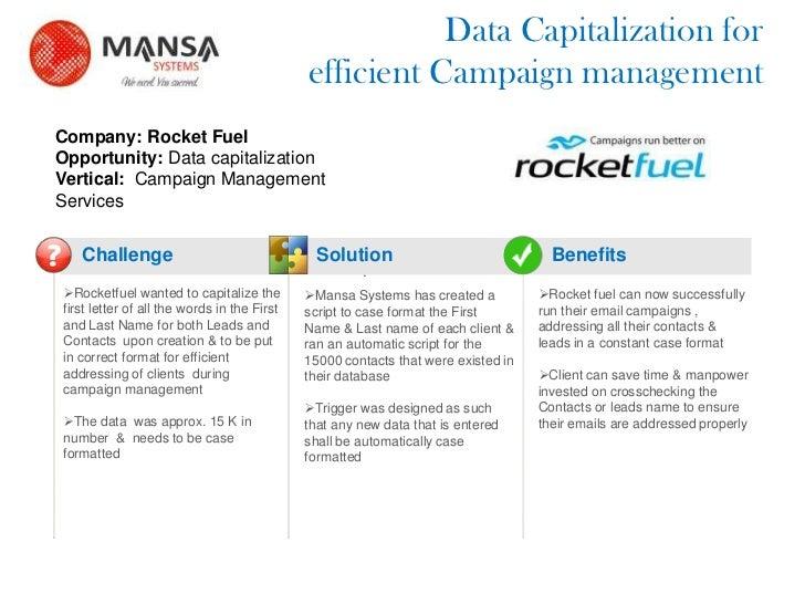 Rocketfuel_Data Capitalization for efficient Campaign management_Success story