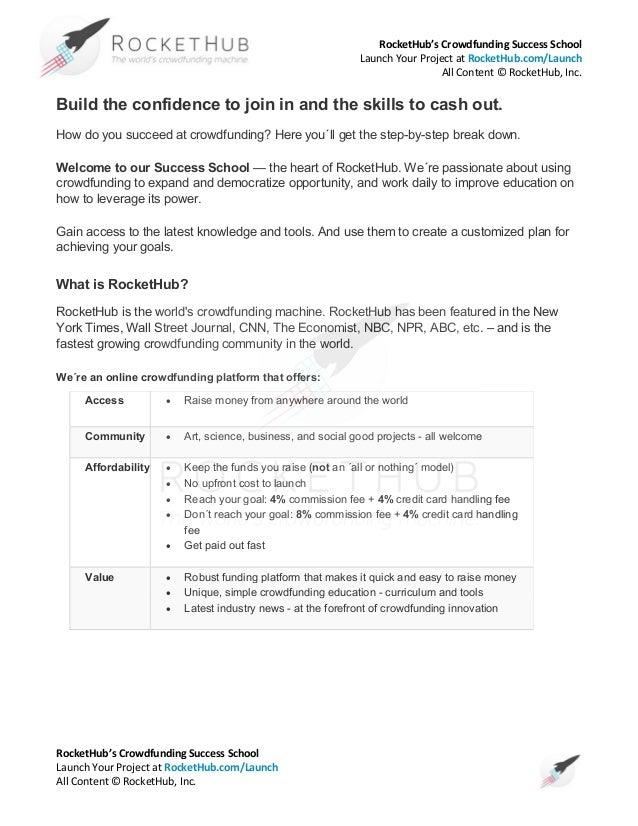 Guía practica Rockethub para campañas de Crowdfunding (ingles)