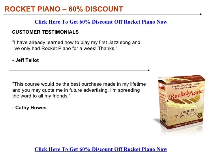 Rocket Piano Discount