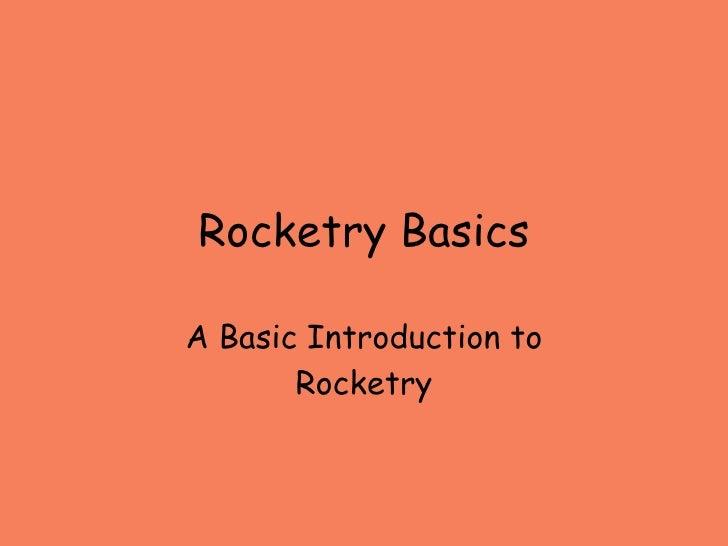 Rocketry Basics