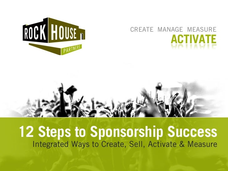 CREATE MANAGE MEASURE                                         ACTIVATE     12 Steps to Sponsorship Success   Integrated Wa...