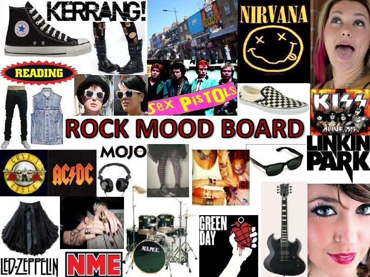 Rock mood board