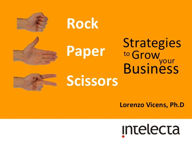 Rock  Lorenzo Vicens, Ph.D  Paper  Scissors  Strategies Business Grow to  your