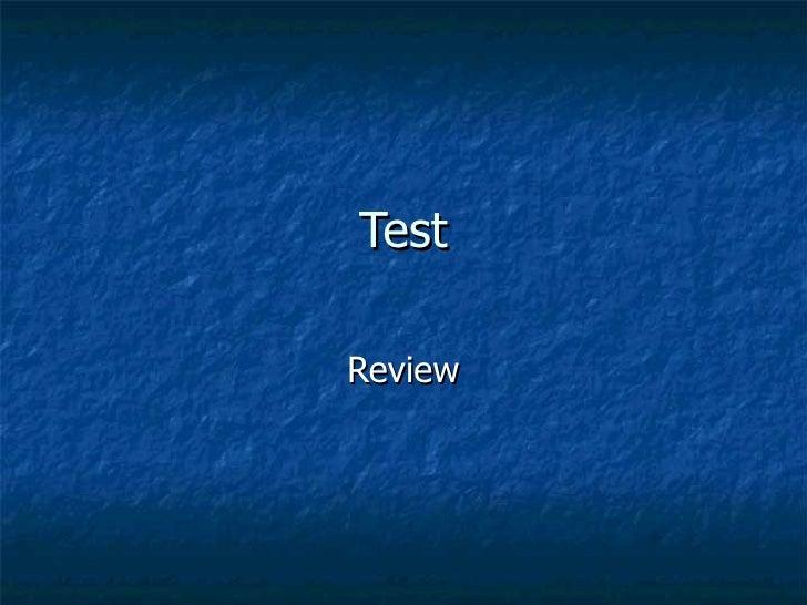 Rocks Test Review