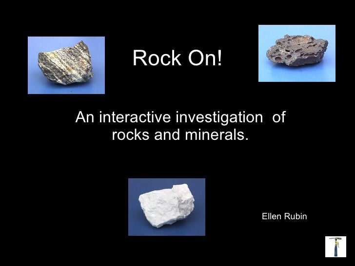Rocks And Minerals  Curriculum Project Ecomp 5022