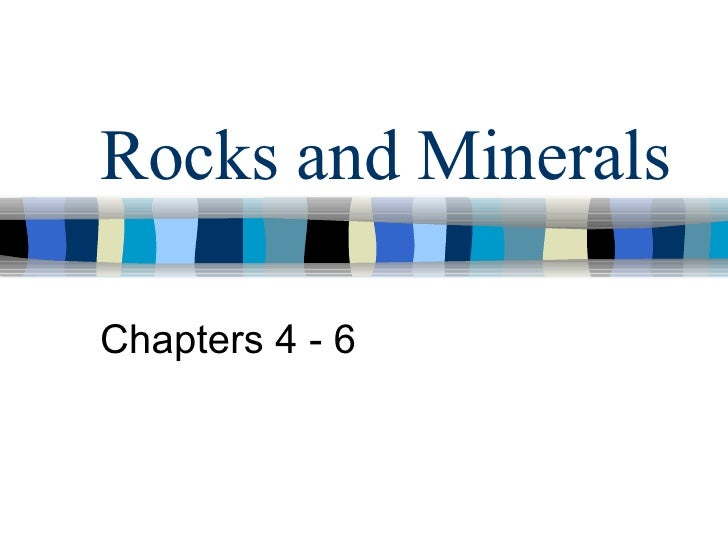 Rocks And Minerals Lecture