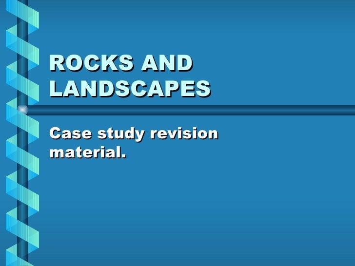 Rocks, granite, limestone and chalk