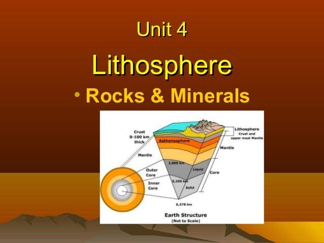 Unit 4  Lithosphere • Rocks & Minerals