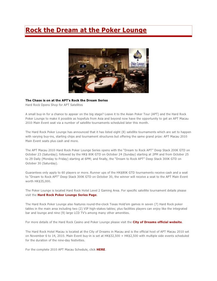 """HYPERLINK """" http://www.theasianpokertour.com/news/rock-the-dream-at-the-poker-lounge.html""""  o """" Read more about Rock the ..."""