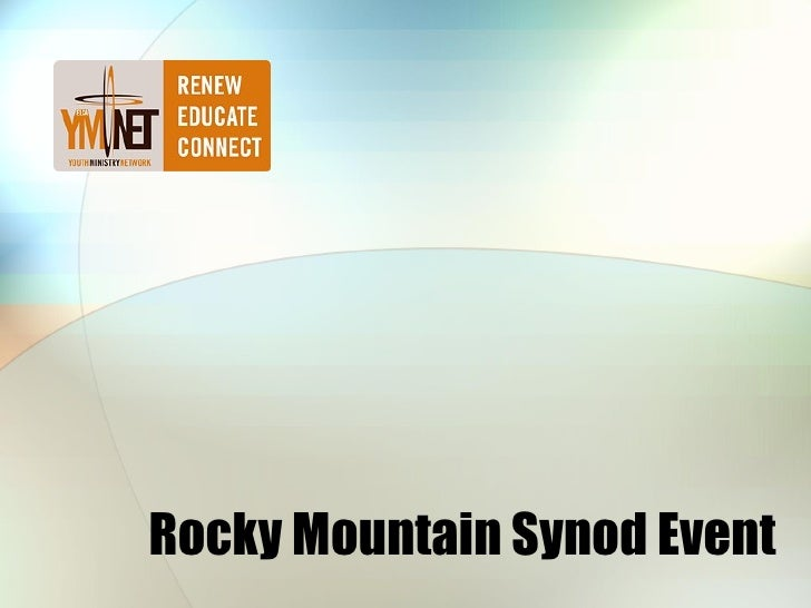 Rocky Mountain Synod Event