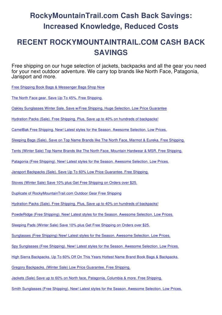 RockyMountainTrail.com-Cash-Back-Savings