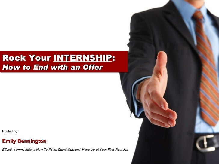 Rock Your Internship: How to End with an Offer