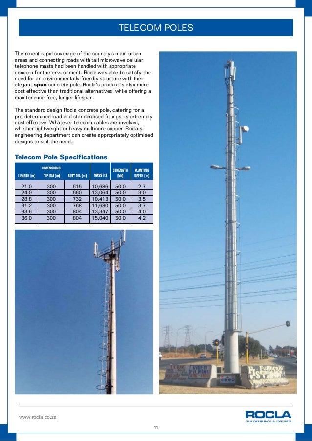 Concrete Pole Weights : Rocla concrete pole guide
