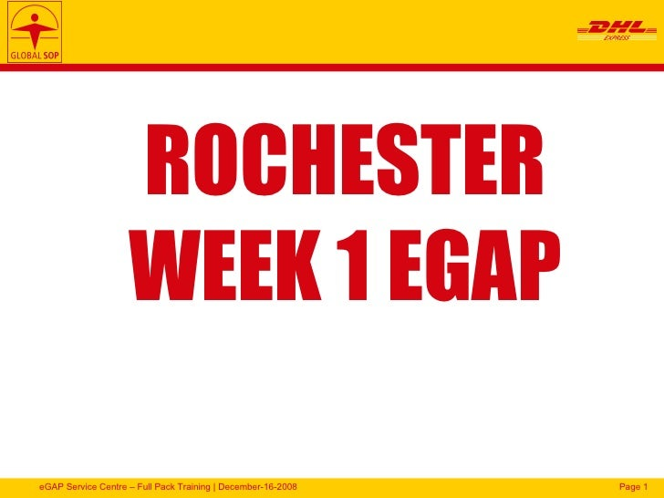 ROCHESTER WEEK 1 EGAP