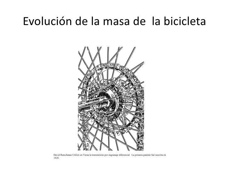 Evolución de la masa de la bicicleta