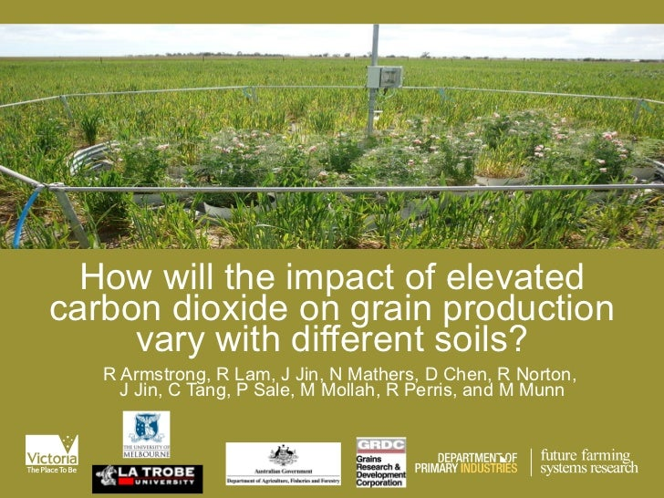 How will the impact of elevated carbon dioxide on grain production vary with different soils? R Armstrong, R Lam, J Jin, N...