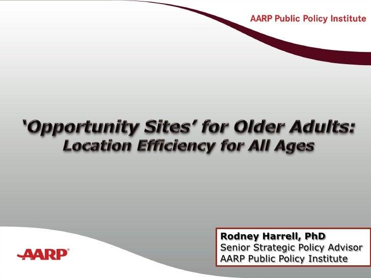 Title text here                       Rodney Harrell, PhD                   Senior Strategic Policy Advisor               ...