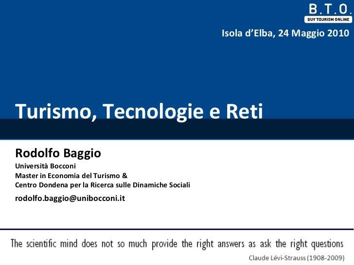 Rodolfo Baggio - BTO delle Isole