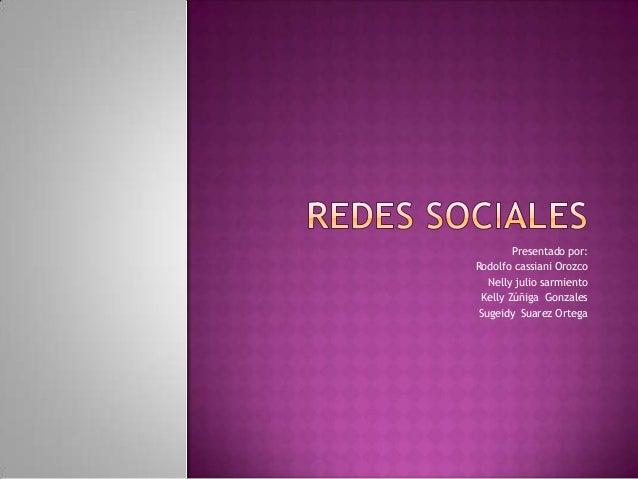 Presentado por: Rodolfo cassiani Orozco Nelly julio sarmiento Kelly Zúñiga Gonzales Sugeidy Suarez Ortega