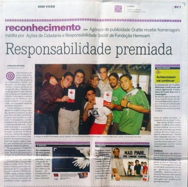 Matéria Jornal A Crítica, Manaus - Novembro 2005
